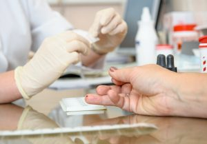 blood test with cholesterol screening specialist
