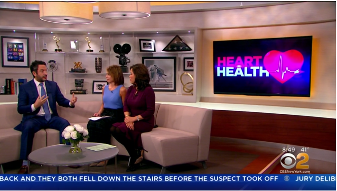 "Dr. Segal on CBS Local discussing ""How To Recognize Heart Disease Risks"""